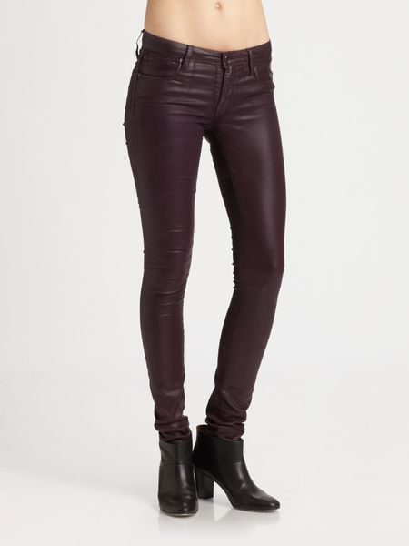 Helmut Lang Glossy Leggings in Purple - Lyst