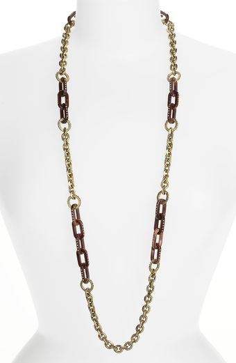Marc By Marc Jacobs Luna Moth Long Pavé Link Necklace - Lyst
