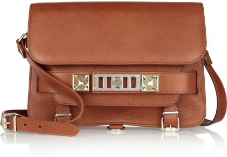 Proenza Schouler Ps11 Classic Textured Leather Shoulder Bag in Brown (chestnut) - Lyst