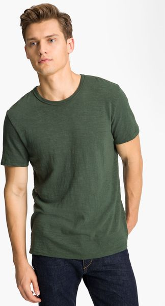 Rag & Bone Flame Tshirt in Green for Men (forest green) - Lyst
