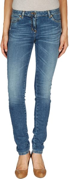 Roberto Cavalli Denim Trousers in Blue - Lyst