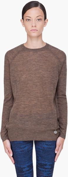 See By Chloé Brown Alpaca Blend Twisted Sweater - Lyst