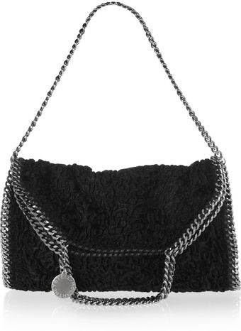 Stella McCartney Falabella Textured Faux Fur Bag - Lyst