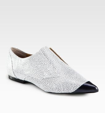 3.1 Phillip Lim Pebbled Leather Laceless Oxfords - Lyst