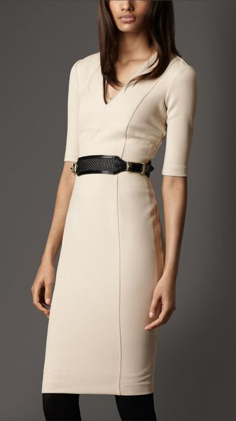 Burberry Crêpejersey Tailored Dress - Lyst