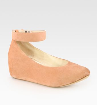 Chloé Suede Ankle Strap Wedge Pumps - Lyst