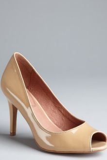 Corso Como Nude Patent Leather Delight Peep Toe Pumps - Lyst