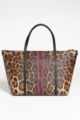Dolce & Gabbana Miss Escape Shopper in Animal (leopard /rosso) - Lyst