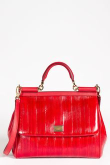 Dolce & Gabbana Miss Sicily Eel Leather Satchel - Lyst