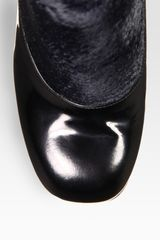 Fendi Calf Hair and Patent Leather Ankle Boots in Black - Lyst