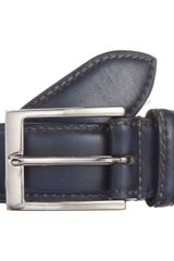 Harris Stitched Edge Belt - Lyst