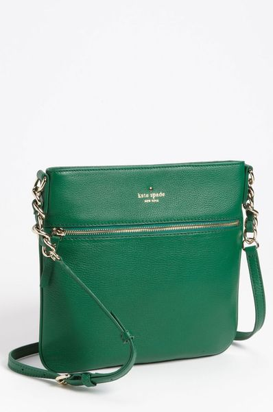 Kate Spade Cobble Hill Ellen Leather Crossbody Bag in Green (forest) - Lyst
