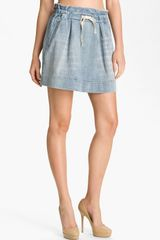 Marc By Marc Jacobs Paperbag Linen Cotton Skirt - Lyst