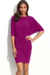Mark + James By Badgley Mischka Belted Jersey Dress - Lyst