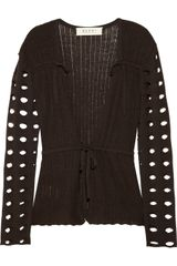 Marni Wool Blend Drawstring Cardigan - Lyst