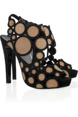 Pierre Hardy Crystalembellished Suede Sandals in Black - Lyst