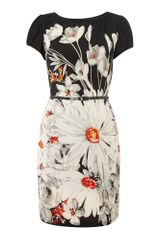 Pussycat Pussycat Flower Print Jersey Dress - Lyst
