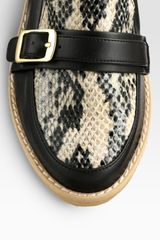 Stella Mccartney Faux Leather and Faux Python Wedges in Black - Lyst