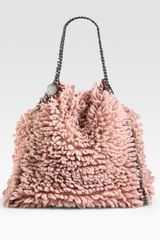 Stella Mccartney Falabella Wool Foldover Tote in Pink (rose) - Lyst