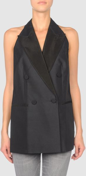 Stella Mccartney Sleeveless Top in Black (steel) - Lyst