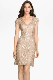 Sue Wong Beaded Soutache Sheath Dress - Lyst