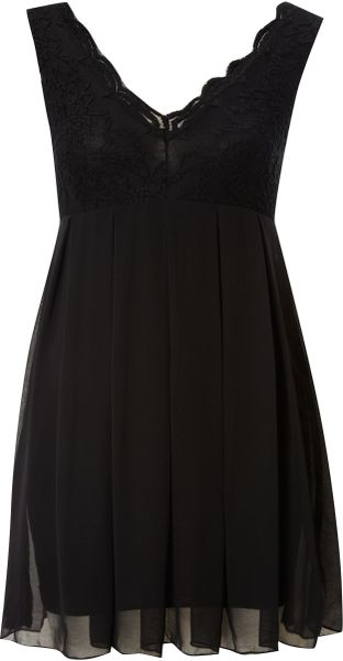 Tfnc Lace Top Dress - Lyst