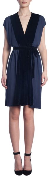 Thomas Maier Cap Sleeve Vneck Dress - Lyst