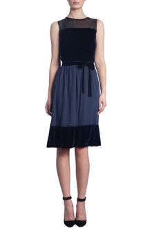 Thomas Maier Sheer Shoulder Sleeveless Dress - Lyst