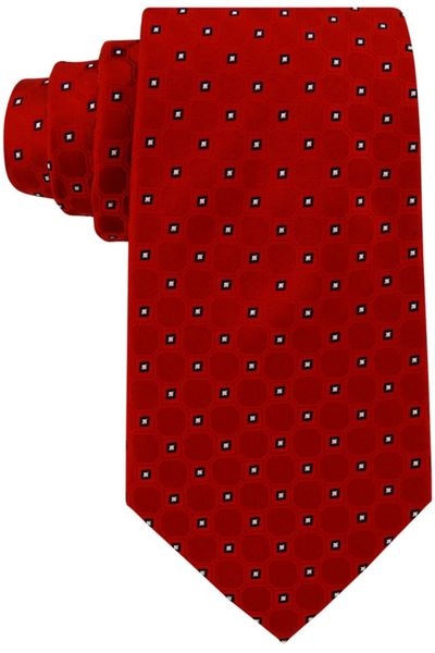Tommy Hilfiger Core Dot Neat in Red for Men - Lyst