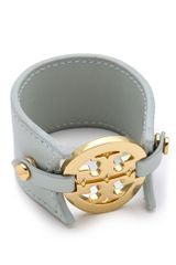 Tory Burch Logo Double Snap Cuff in Gold (sky) - Lyst