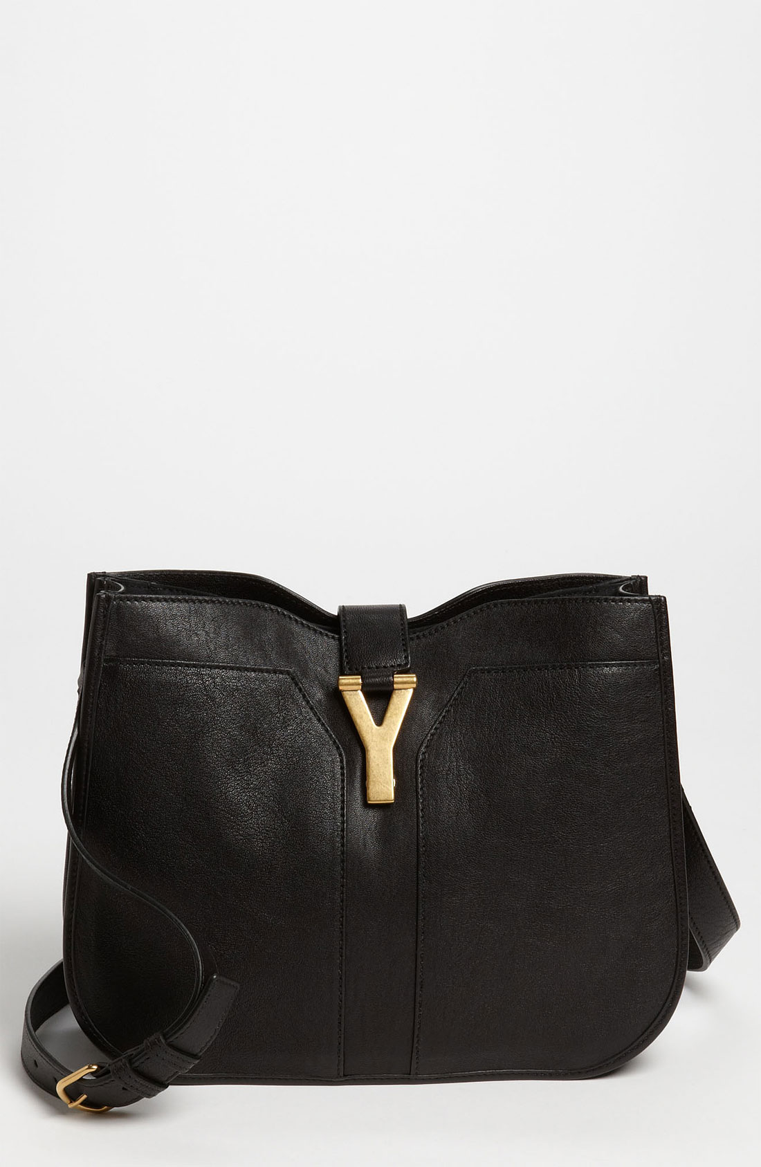 Saint laurent Cabas Chyc Medium Shoulder Bag in Black (nero) | Lyst