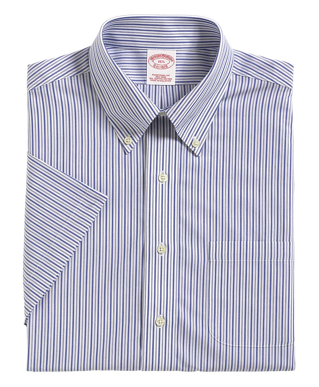 Brooks brothers allcotton noniron traditional fit for Brooks brothers dress shirt fit guide
