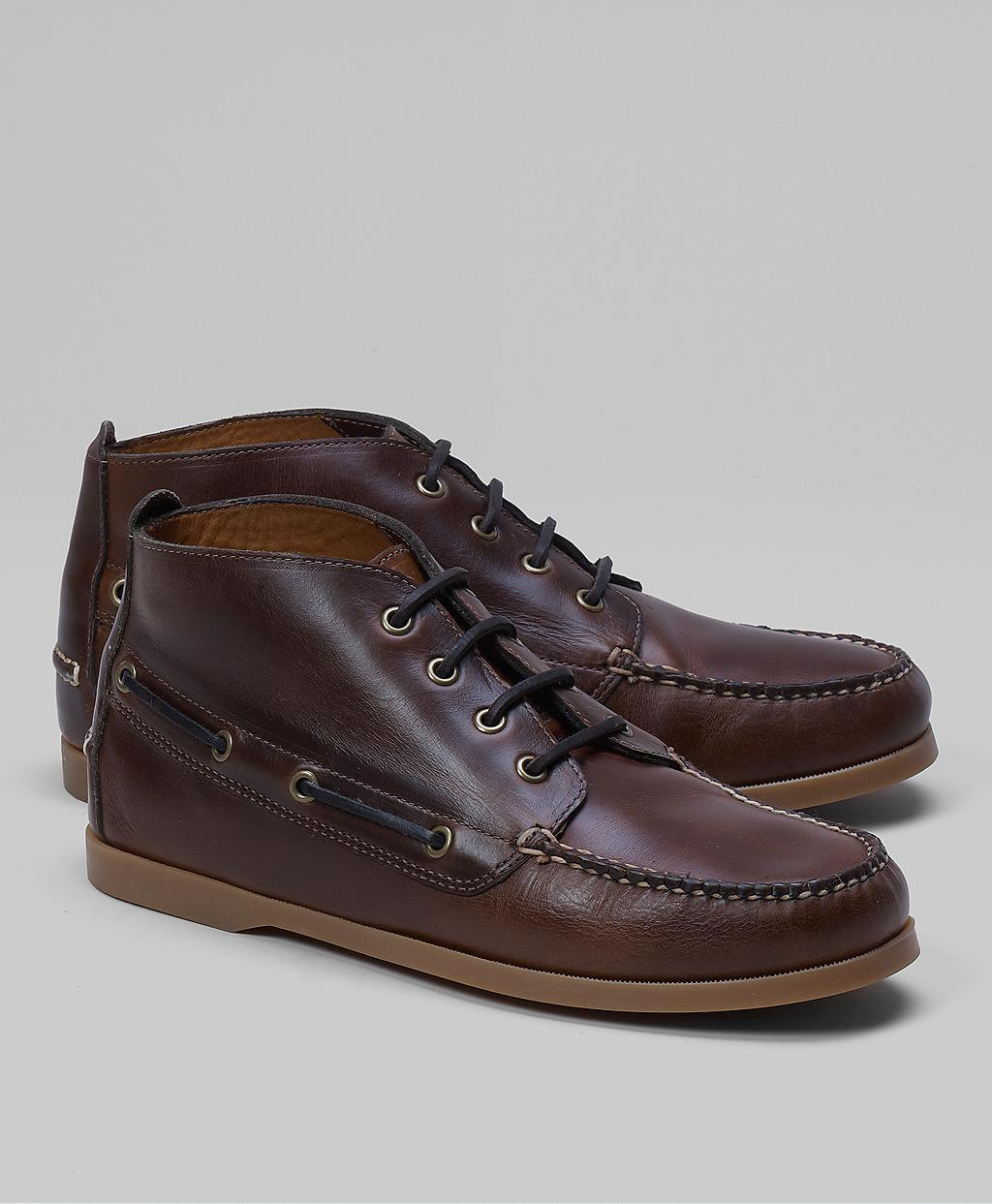 7612ff6bf5c Lyst - Brooks Brothers Chukka Boat Boots in Brown for Men