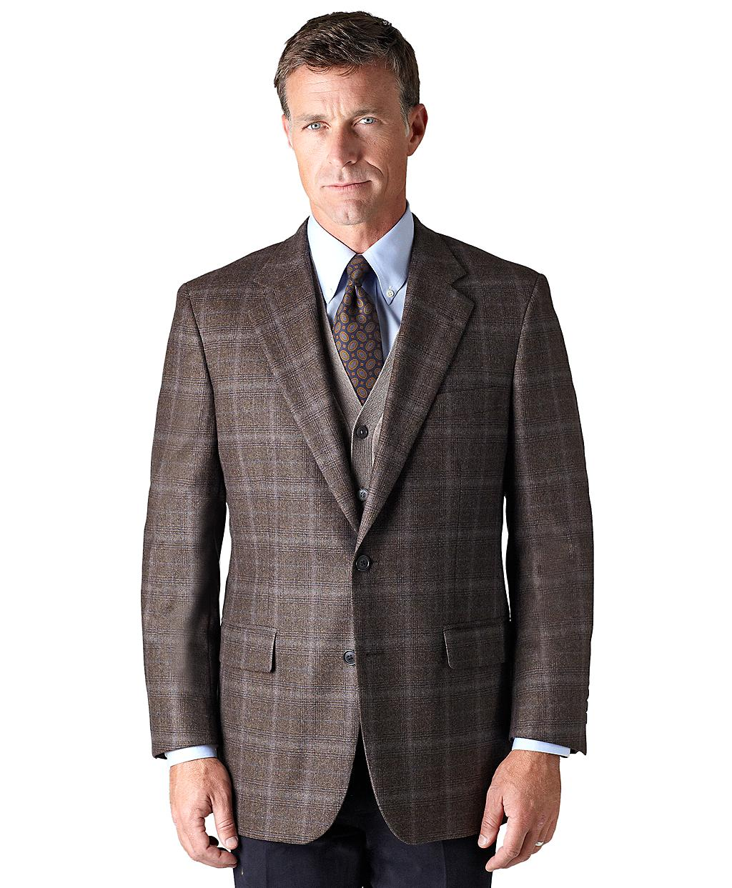 Brooks Brothers Madison Fit Saxxon Plaid With Blue Deco
