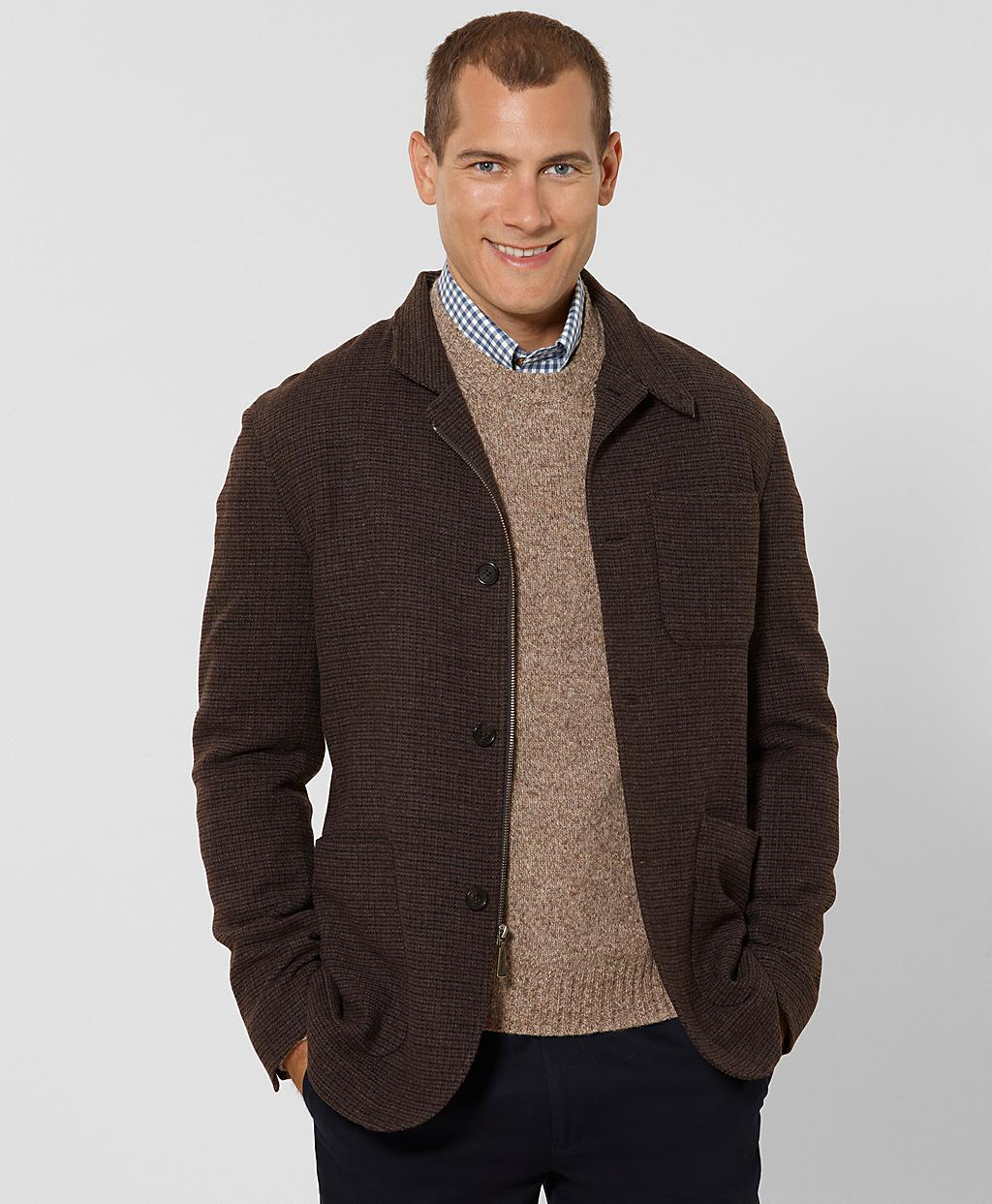 Brooks brothers Wool Hybrid Jacket in Brown for Men | Lyst