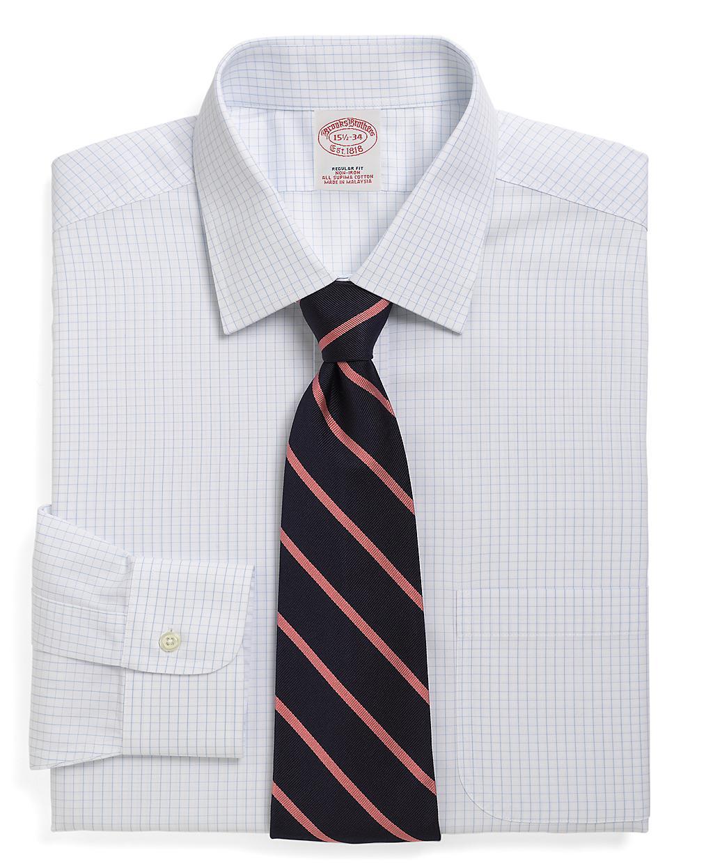 Brooks brothers non iron milano fit medium check dress for Brooks brothers non iron shirts review