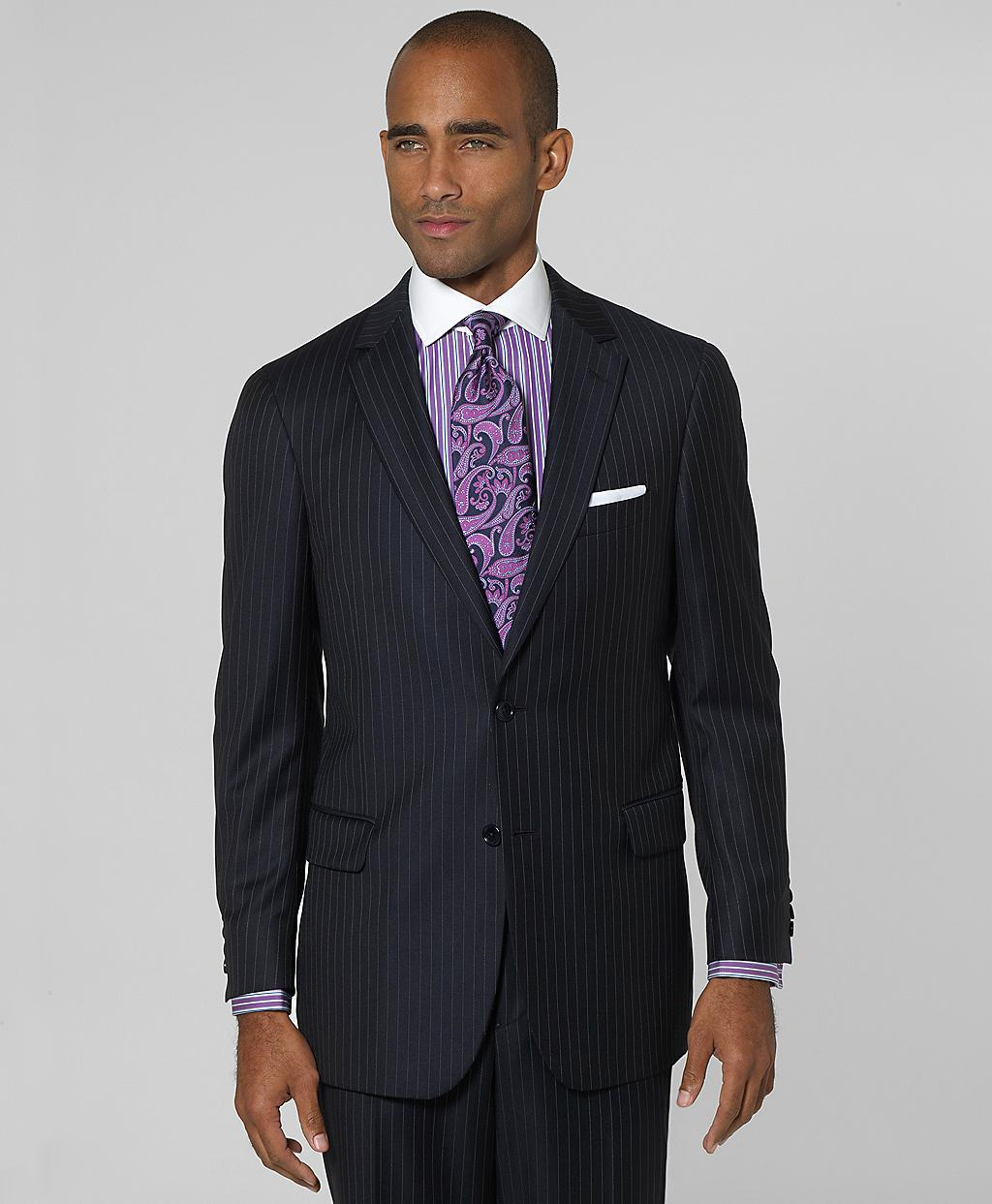 Lyst Brooks Brothers Milano Bead Stripe Suit In Blue For Men
