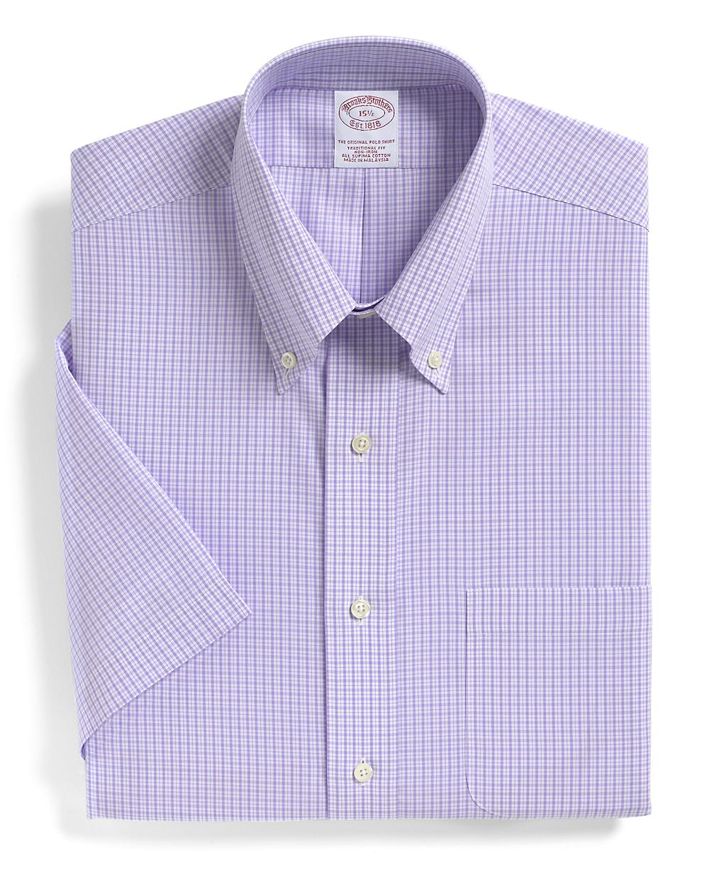 Brooks brothers supima cotton noniron traditional fit for Brooks brothers dress shirt fit guide