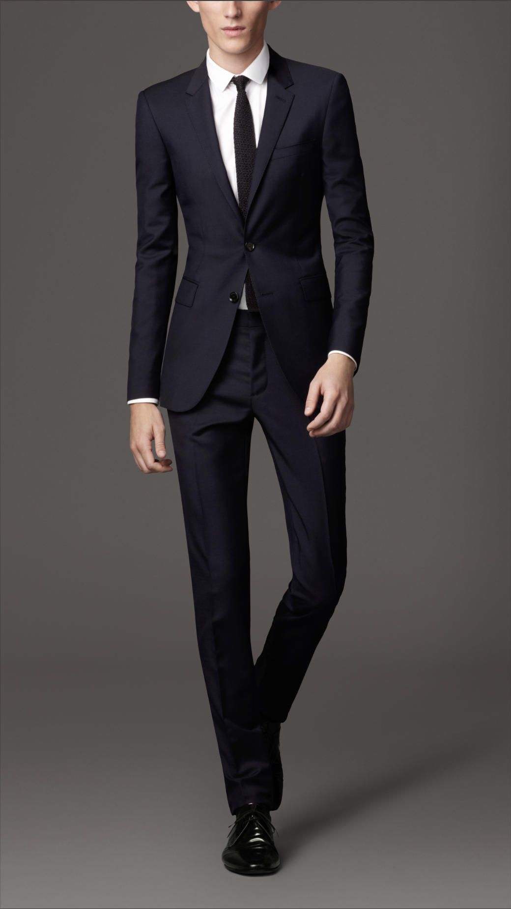 Burberry Slim Fit Wool Mohair Suit in Blue for Men | Lyst