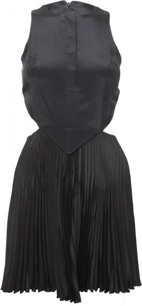 Christopher Kane  Cut Away Dress in Black - Lyst