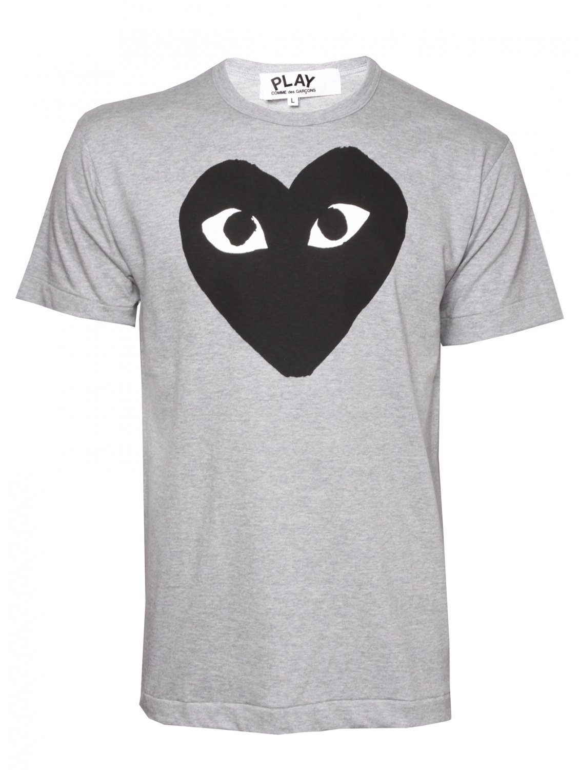 Comme Des Gar Ons Play Mens Black Heart T Shirt Grey In