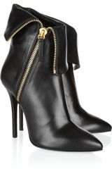 Giuseppe Zanotti Folded Leather Ankle Boots - Lyst