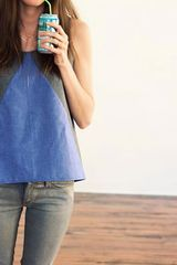 Hound Compass Tank in Blue (chambray) - Lyst