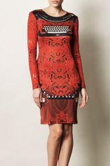 Mary Katrantzou Typo Print Silk Jersey Dress - Lyst