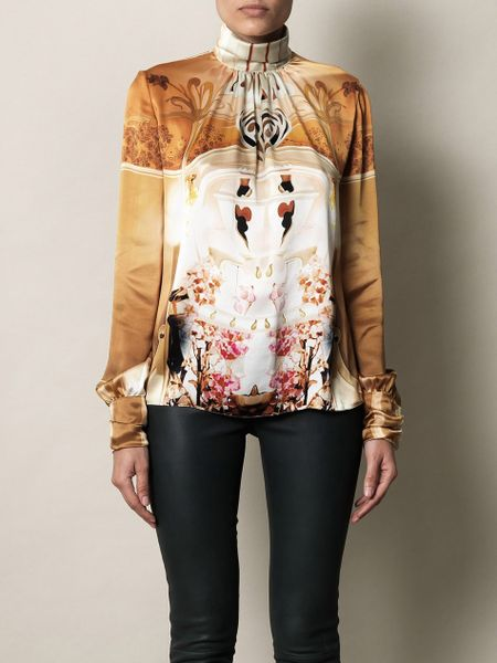 Mary Katrantzou Cake Flake Print Blouse in Multicolor (yellow) - Lyst