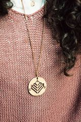 Metalepsis Projects Monolith Pendant Necklace in Gold (bronze) - Lyst