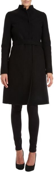 Narciso Rodriguez Belted Reversible Coat in Black - Lyst