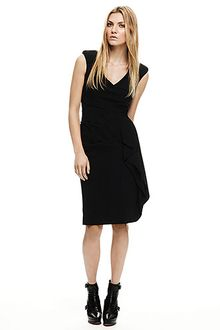 Nicole Miller Cowl Neck Cascade Dress - Lyst