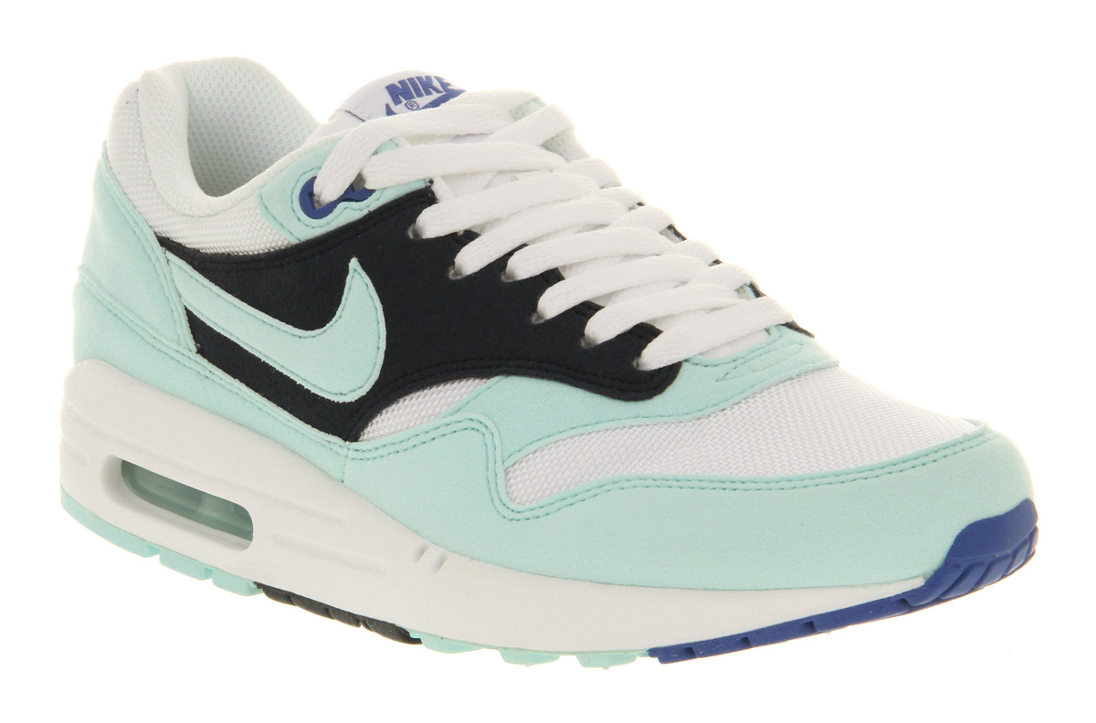 nike air max 1 shoes - white-mint candy warehouse