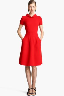 Oscar de la Renta Wool Dress - Lyst